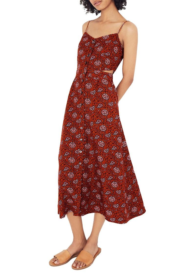 6bc9e7d81d0 Madewell Madewell Warm Paisley Cutout Camisole Midi Dress Now  89.99