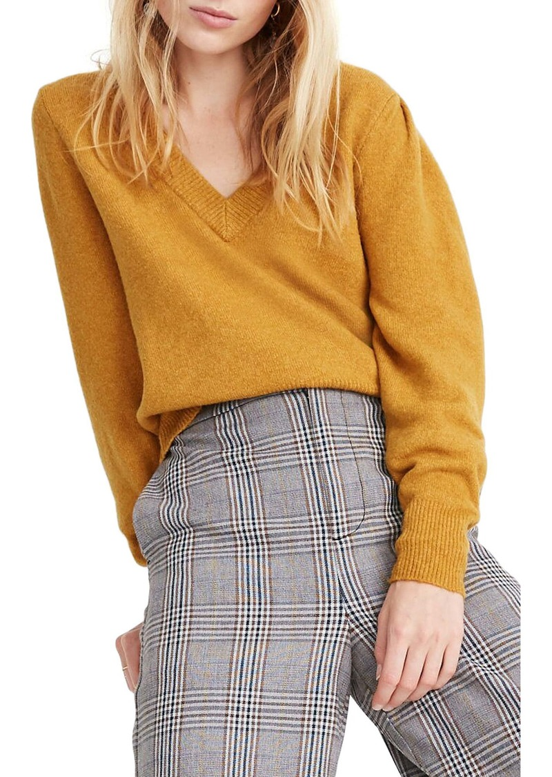 Madewell Westgate V-Neck Coziest Yarn Sweater
