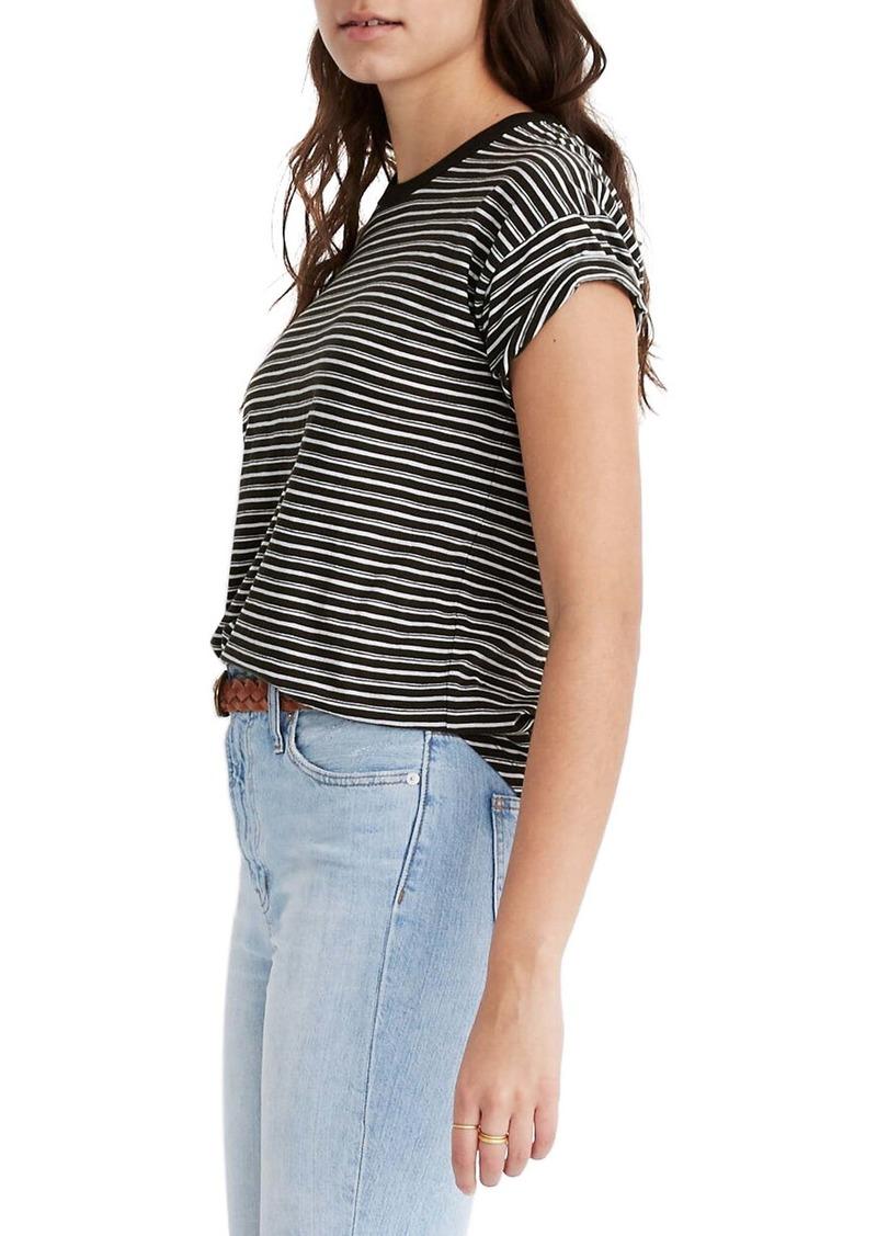 Madewell Whisper Cotton Rib Crewneck T-Shirt