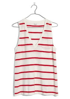 Madewell Whisper Cotton Stripe Pocket Tank