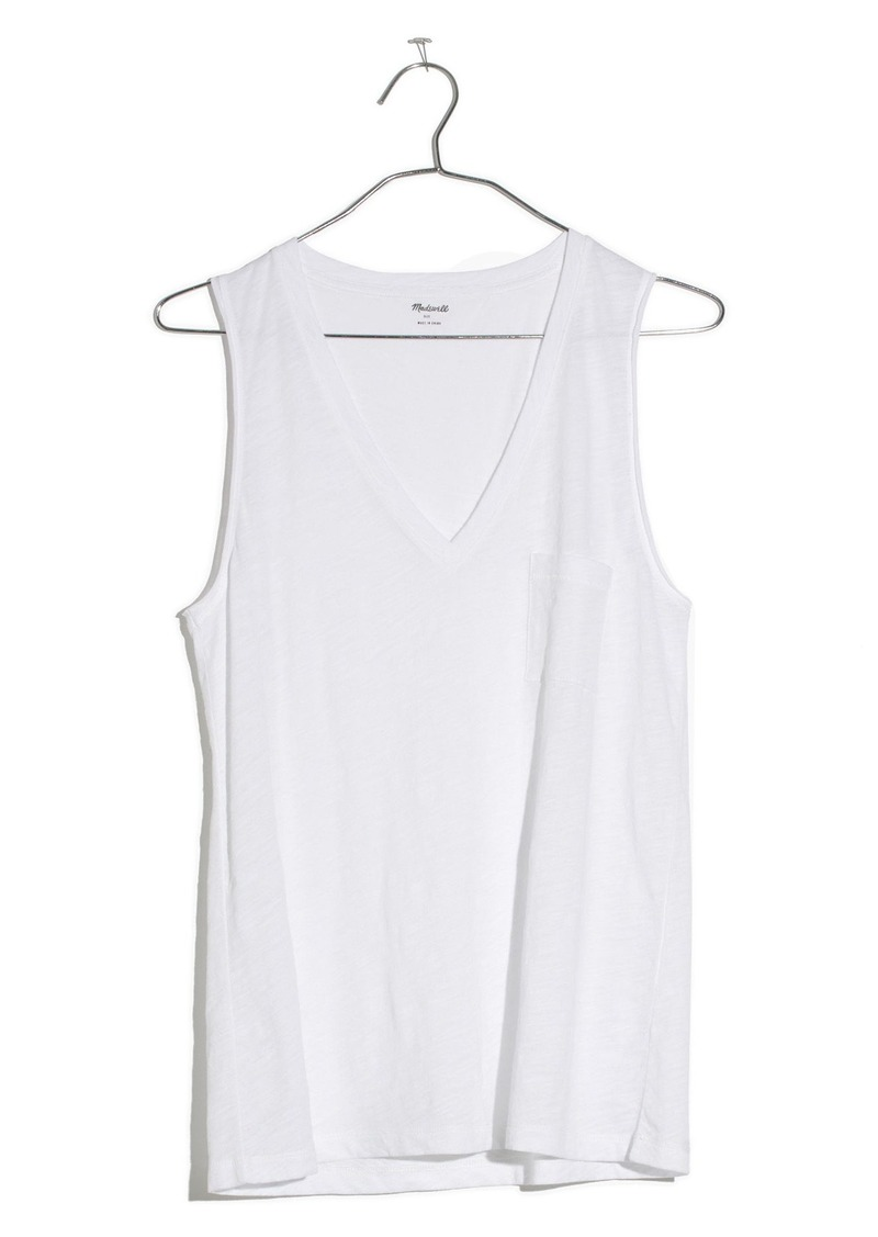 92c03aadeff45 Madewell Madewell Whisper Cotton V-Neck Tank Now  13.65