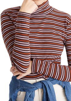 Madewell Whisper Stripe Cotton Turtleneck