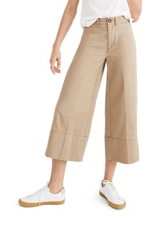 Madewell Wide Leg Crop Chino Pants