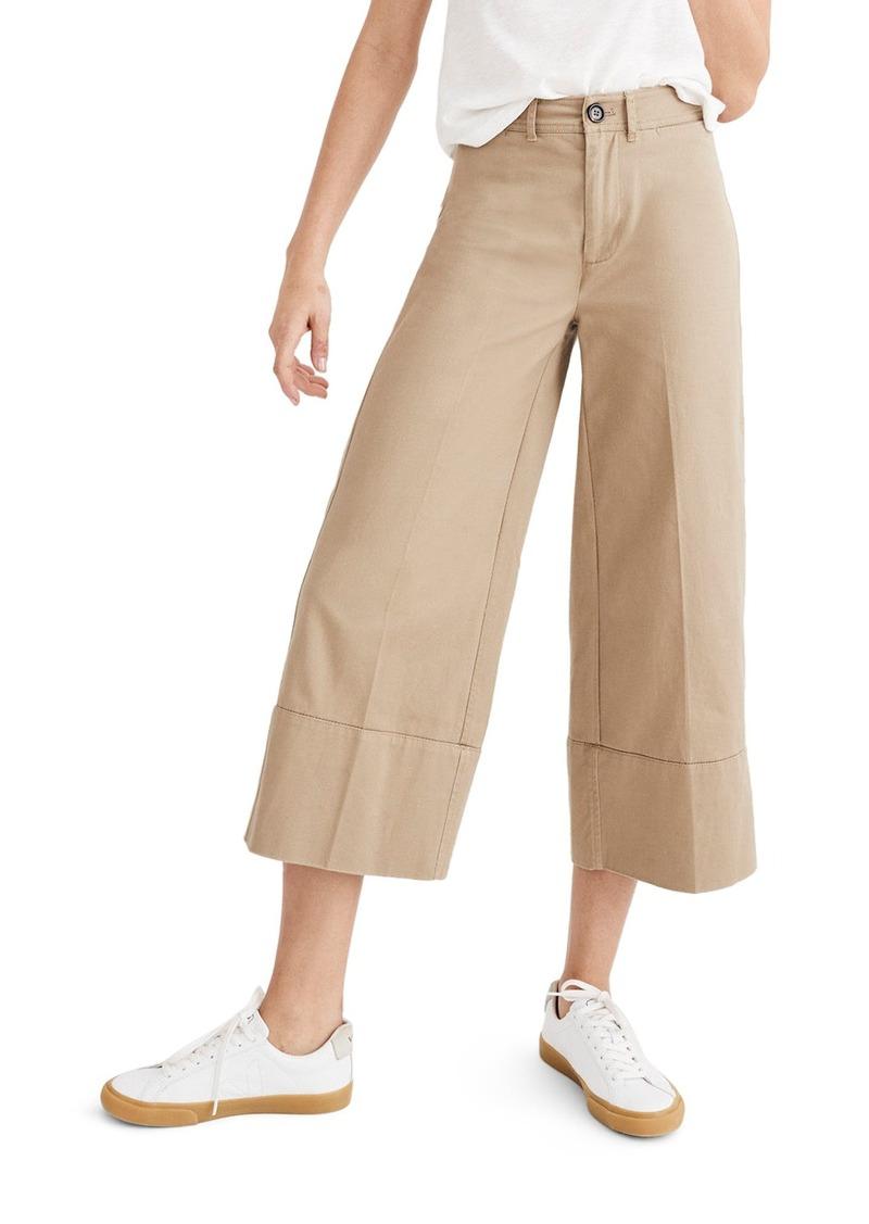 24646c6ae4 Madewell Madewell Wide Leg Crop Chino Pants
