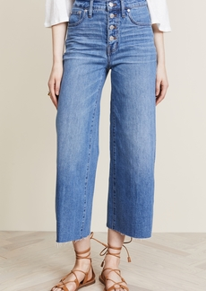Madewell Wide-Leg Crop Jeans: Button-Front Edition
