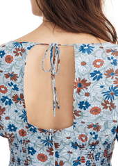 Madewell Wildflower Garden Open Back Minidress