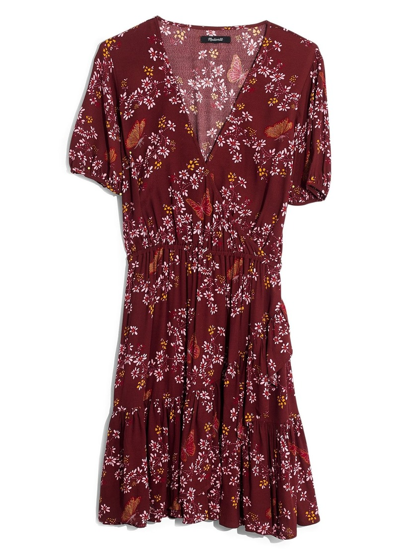 a1a4b1f1454 Madewell Madewell Windowbox Floral Ruffle Faux Wrap Dress
