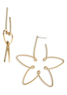 Madewell Wire Flower Statement Earrings