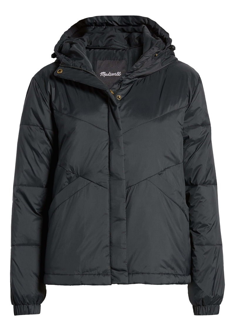 Madewell Women's Chevron Packable Puffer Jacket