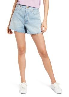 Madewell Women's Curvy Relaxed Denim Shorts (Cedarcroft Wash)