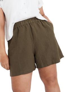 Madewell Women's Linen Blend Easy Pull-On Shorts