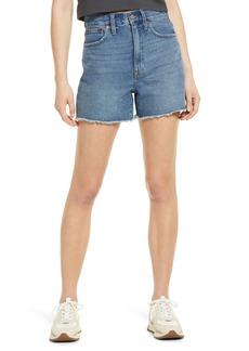 Madewell Women's The Momjean High Waist Cutoff Denim Shorts (Willis Wash)