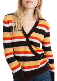 Madewell Wrap Front Stripe Pullover