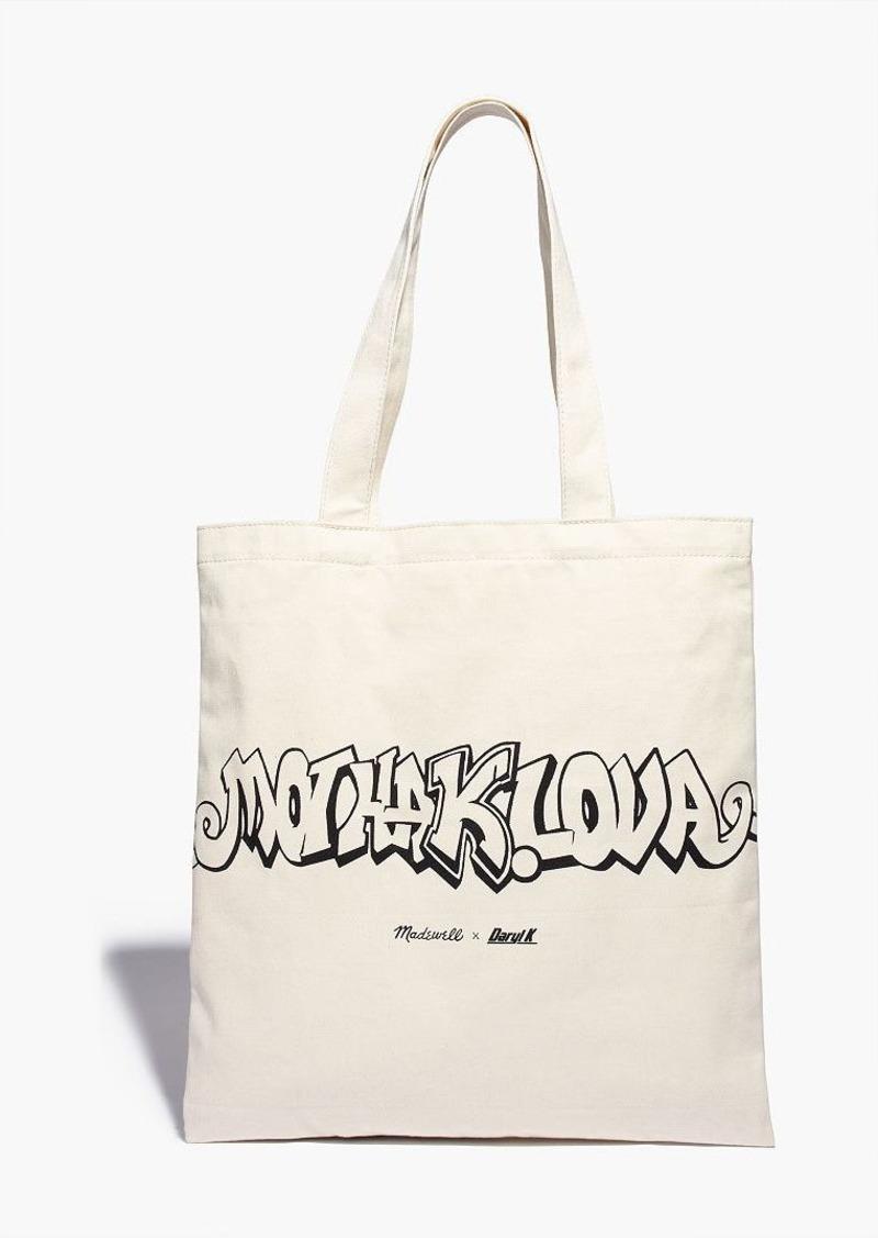 madewell x daryl k® reusable mothalova canvas tote bag