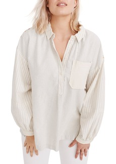 Madewell x The New Denim Project® Oversize Popover Shirt