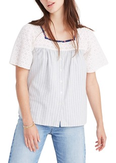 Madewell x The New Denim Project® Patchwork Butterfly Top