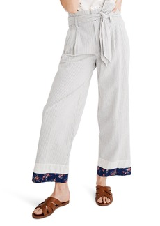 Madewell x The New Denim Project® Patchwork Paperbag Pants
