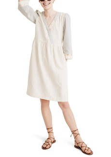 Madewell x The New Denim Project® Stripe Mix Long Sleeve Dress