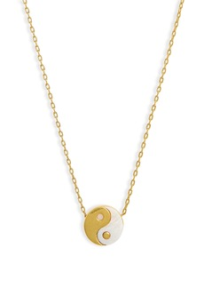 Madewell Yin/Yang Mother of Pearl Charm Necklace