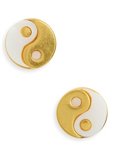 Madewell Yin/Yang Mother of Pearl Stud Earrings