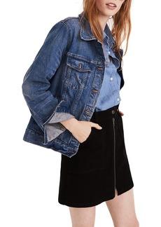 Madewell Zip Denim Utility Miniskirt