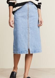 Madewell Zip Front Midi Skirt
