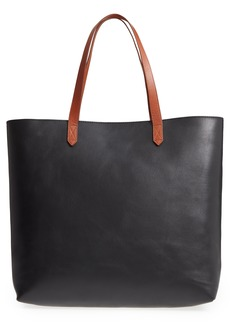 Madewell Zip Top Transport Leather Tote