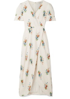 Madewell Magdalena Wrap-effect Floral-print Voile Maxi Dress
