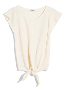 Madewell Marin Tie Front Sweater Tee (Regular & Plus Size)