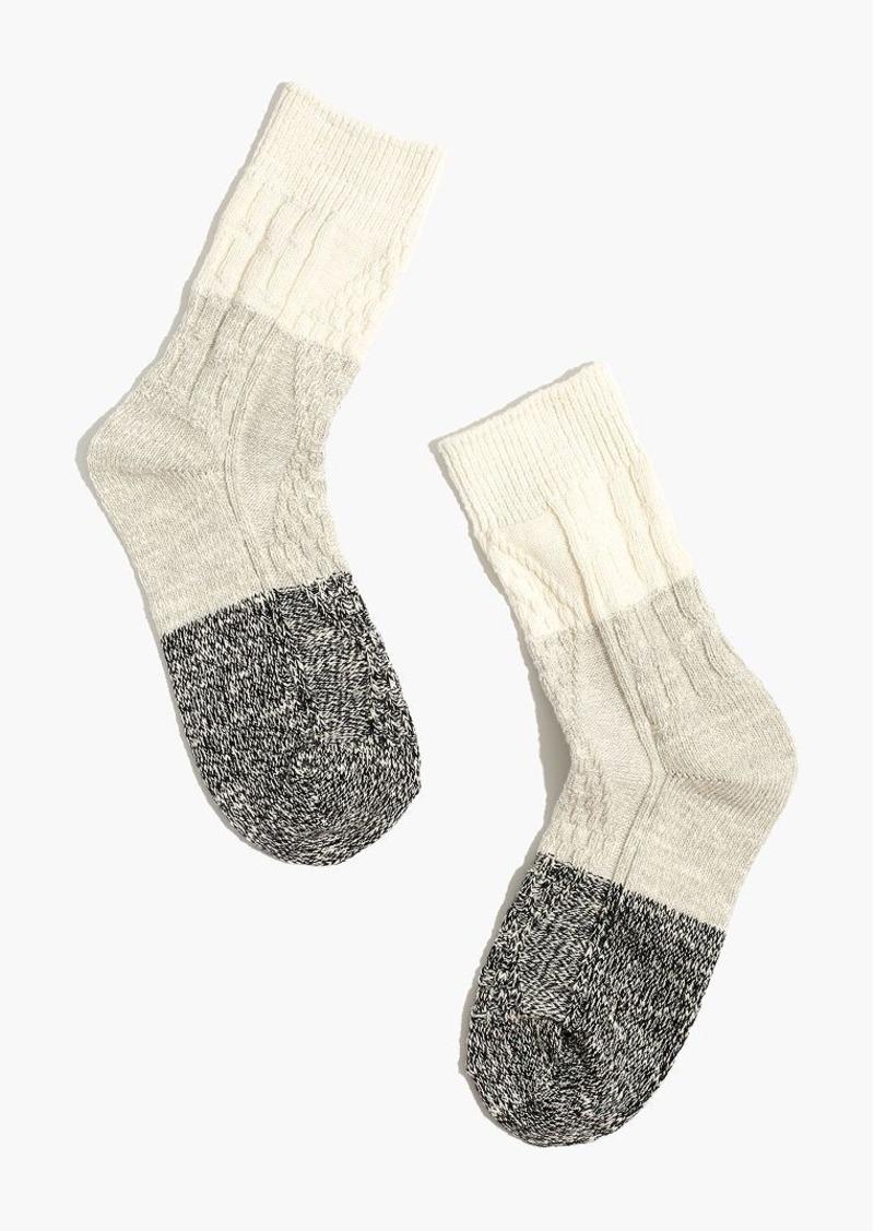 Madewell marled colorblock trouser socks