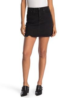 Madewell McCaren Frayed Hem Denim Mini Skirt