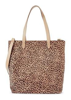 Madewell Medium Transport Leopard-Print Calf Hair Tote