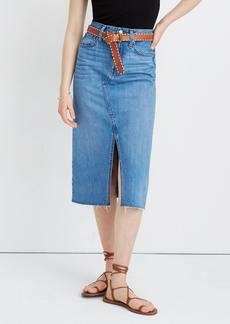 Madewell Midi Frisco Denim Skirt