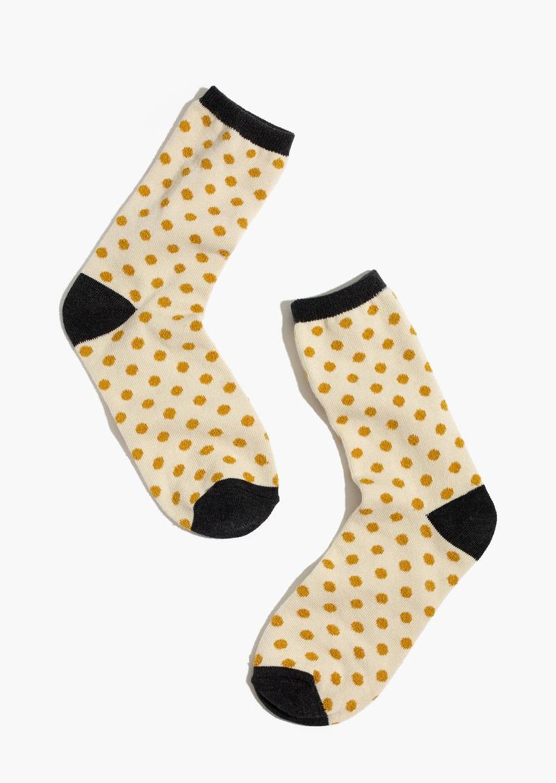 Madewell Mini-Dot Trouser Socks