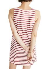 Madewell Mitered Stripe Tank Dress