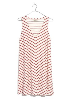 Madewell Mitered Stripe Tank Dress