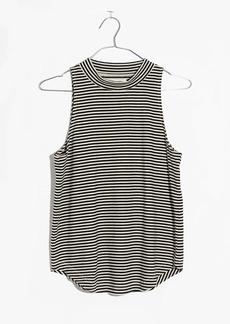 Madewell Mockneck Shirttail Tank Top in Stripe