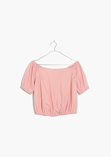 Madewell Off-the-Shoulder Bubble Top in Weathered Pink