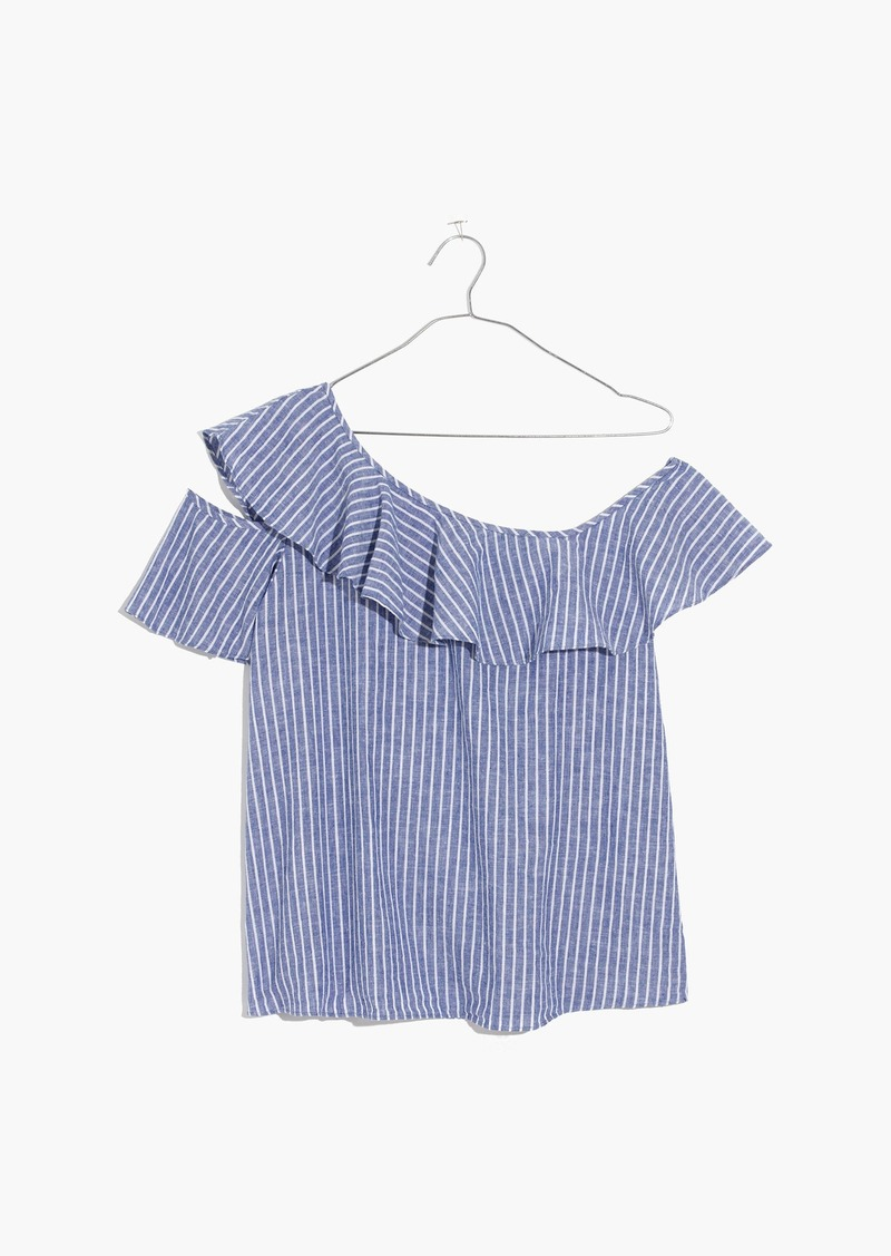 c54bce3f50c Madewell One-Shoulder Ruffle Top in Stripe | Casual Shirts