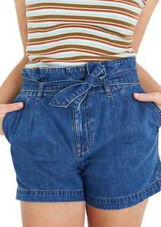 Madewell Paperbag Waist Denim Shorts (Deacon Wash)