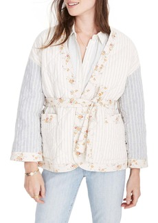 Madewell x The New Denim Project(R) Patchwork Wrap Jacket