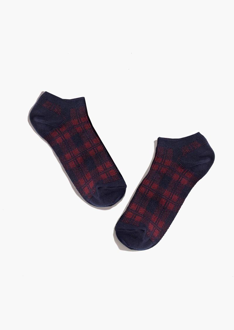 Madewell Plaid Anklet Socks