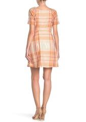 Madewell Plaid Lemongrass Mini Dress