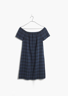 Plaid Off-the-Shoulder Dress