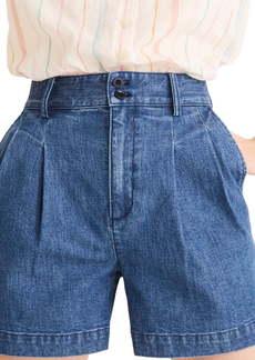 Madewell Pleated High Waist Denim Shorts (Willowdale)