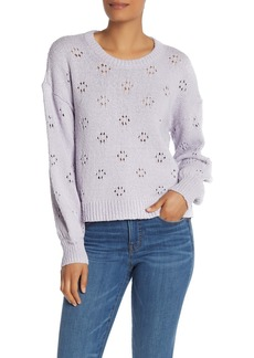 Madewell Floral Pointelle Pullover Sweater (Regular & Plus Size)