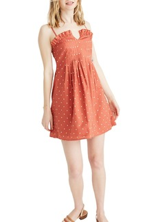 Madewell Polka Dot Pintuck Cami Dress