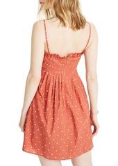 Madewell Polka Dot Pintuck Cami Dress
