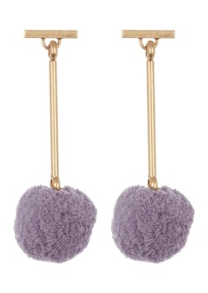 Madewell Pompom Drop Earrings