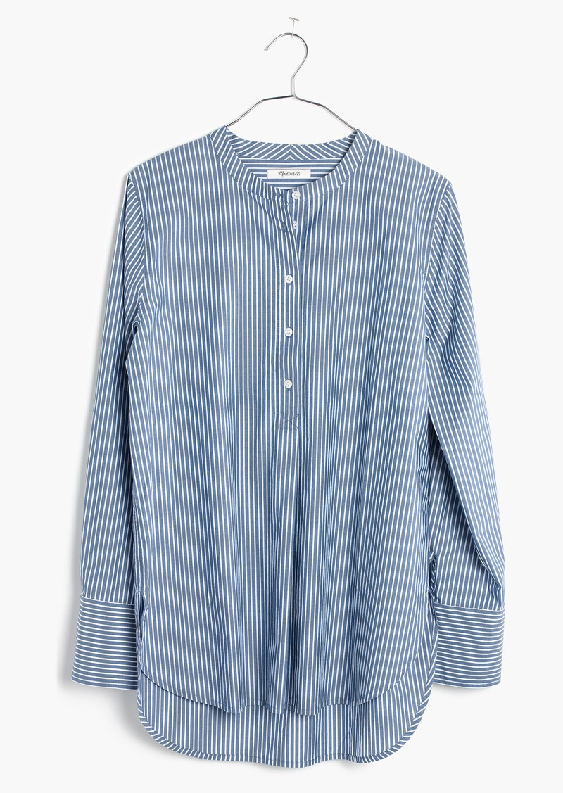cc0f01cbb58 Madewell Popover Tunic Shirt in Bartlett Stripe | Casual Shirts
